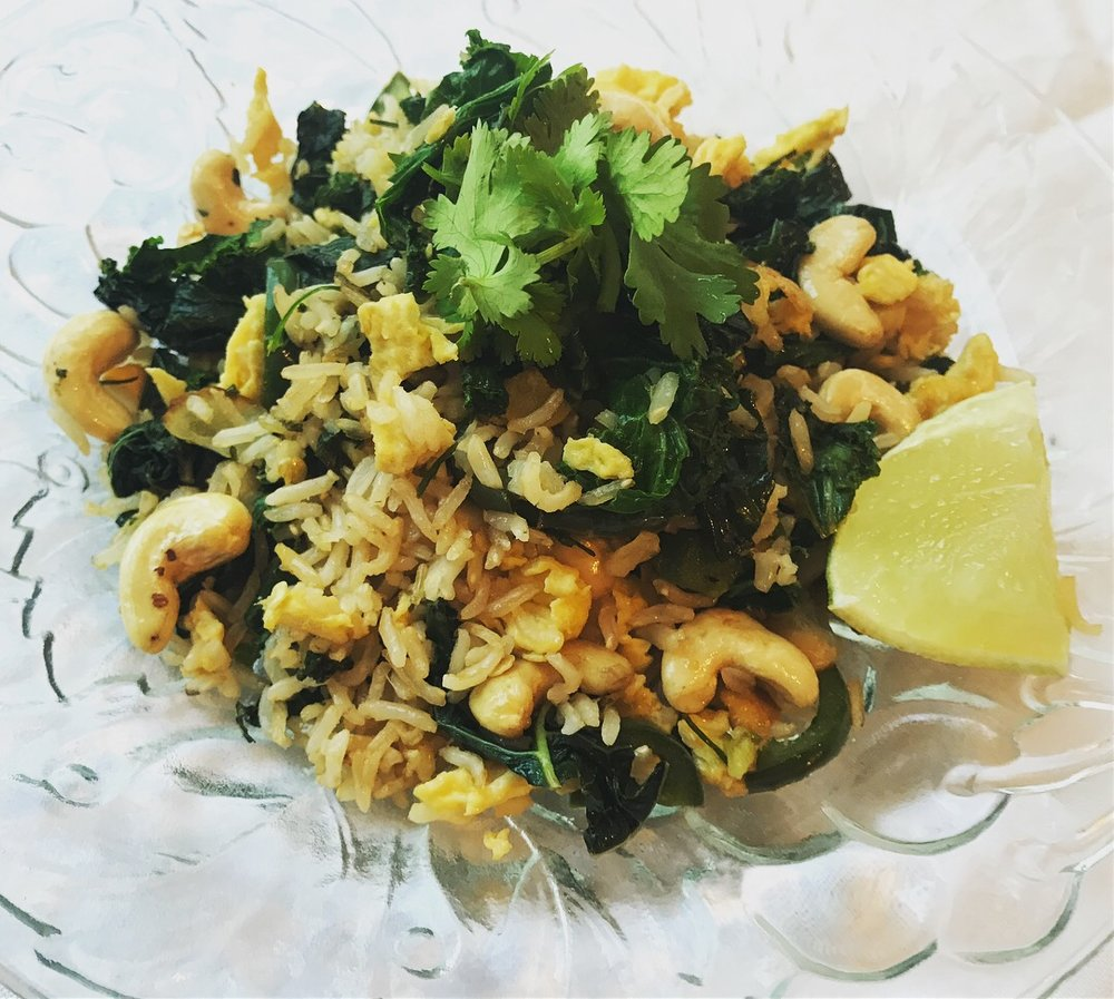 kale & cashew fried rice