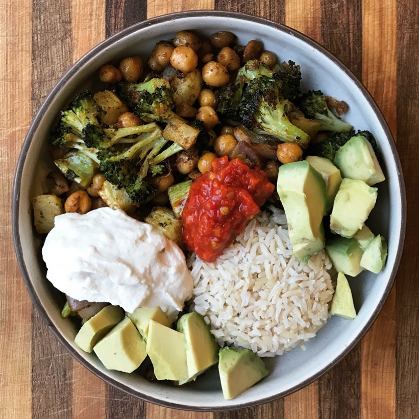 my favorite chickpea bowl
