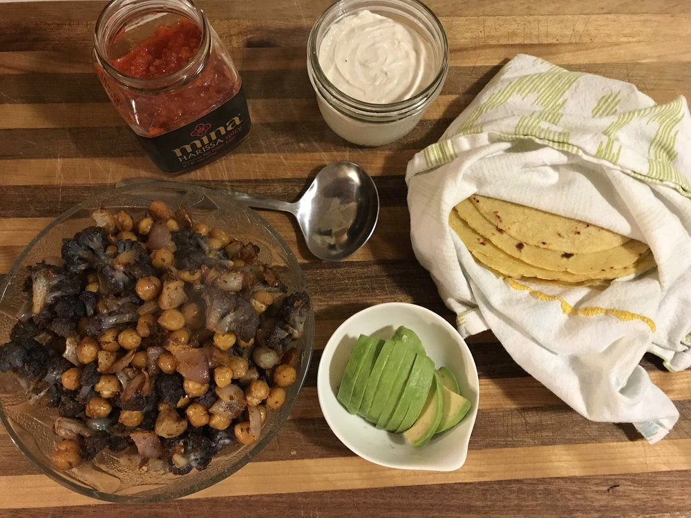 Roasted Chickpea Taco Bar