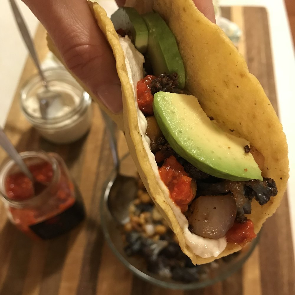 roasted chickpea taco