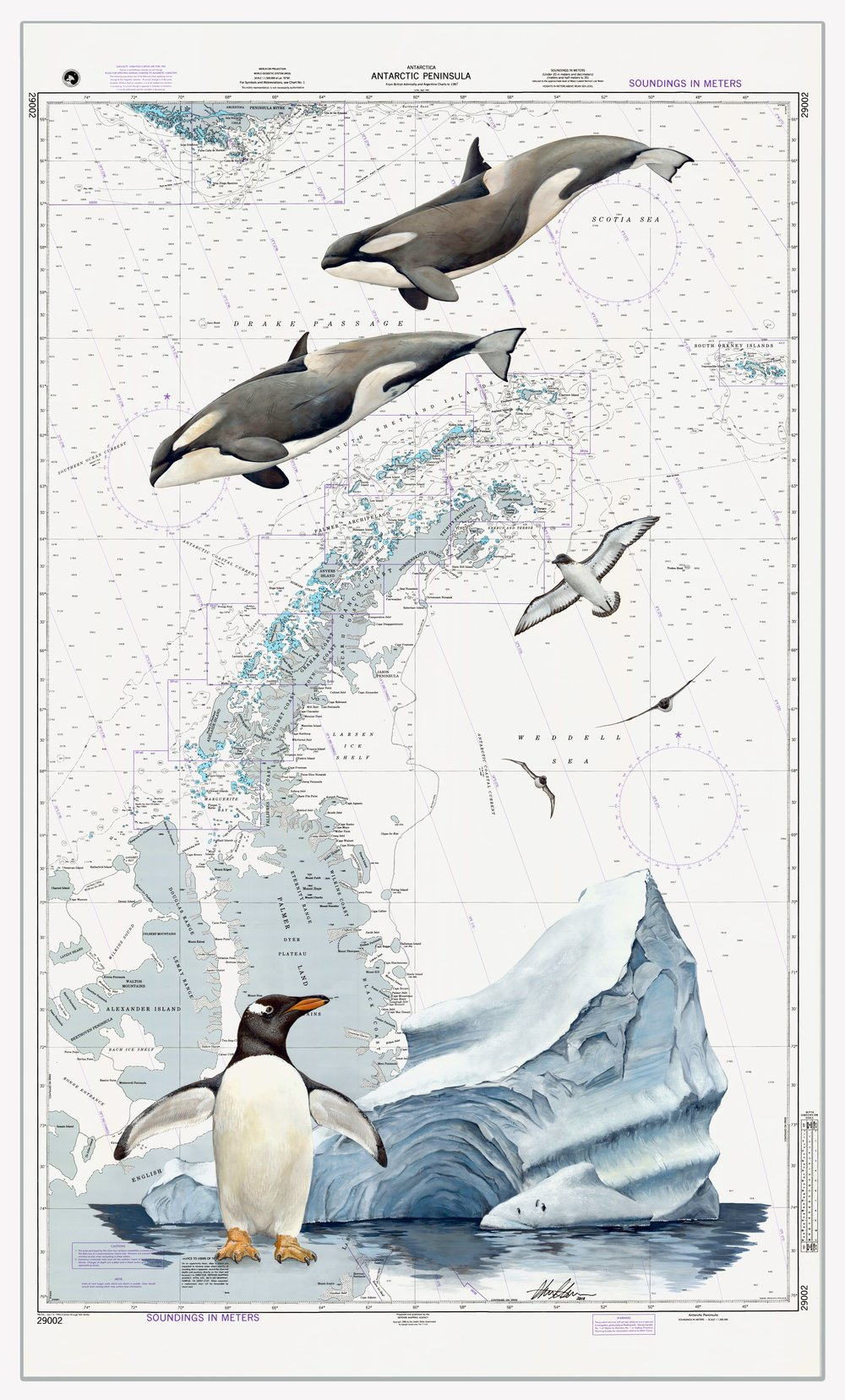 Antarctic Peninsula Chart - SOLD