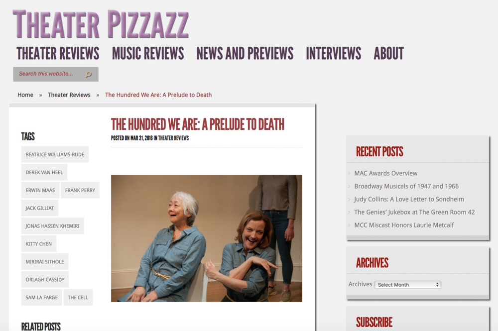 http://theaterpizzazz.com/the-hundred-we-are-a-prelude-to-death/