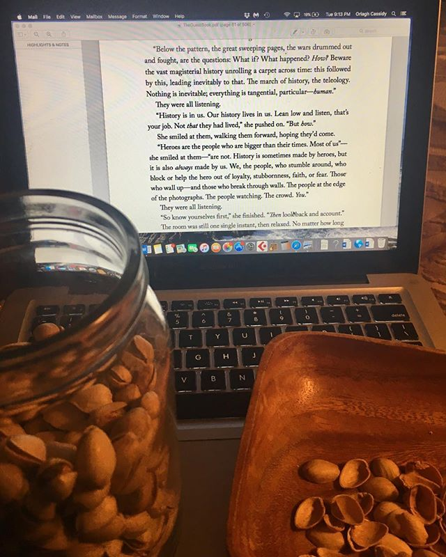The proper way to prep an audiobook in a day #eatalotofpistachiosandreadfast