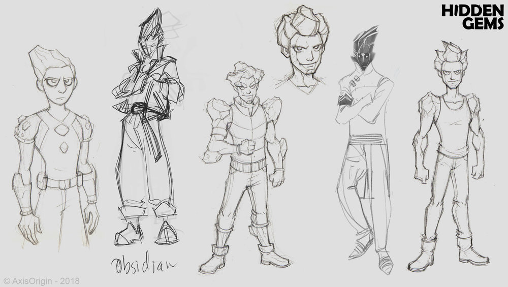 Early Obsidian Character Designs by Joel Sigua and Jose-Luis Segura