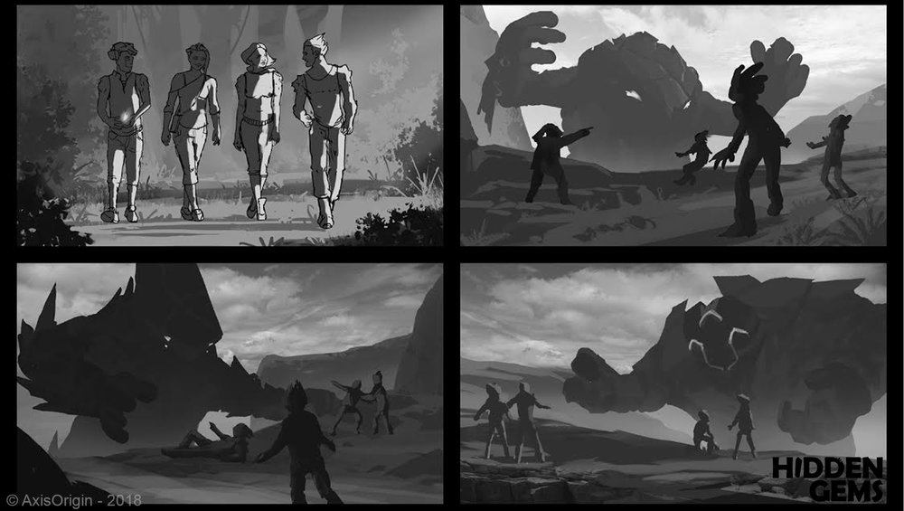 Stibnite Giant Layout Sketches by  Tomislav Jagnjic