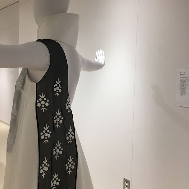 """The 3D Printed Future of Fashion""  featuring my embellishment design 3D printed directly on silk organza  Head to the Jill Stuart Gallery to check out my latest research piece and the FSAD 6219 Fashion&Beauty exhibition"