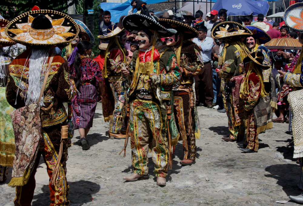 Costumes in many traditional dances in western Guatemala are spectacular, but the  Baile de los Mexicanos  may outdo them all.