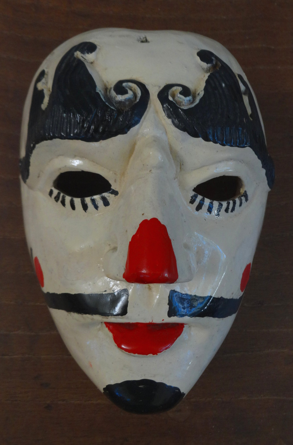 Patrón  mask dating to the late 1970s from  El Baile del Patzcar , Nahualá, Sololá Department. Author's collection.