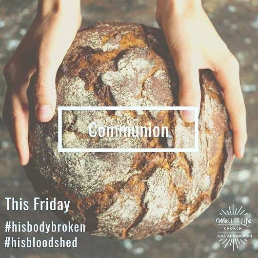 Tomorrow we celebrate what Jesus has done for us on the cross. Join us for communion as we remember His sacrifice. #welloflifechurchrak