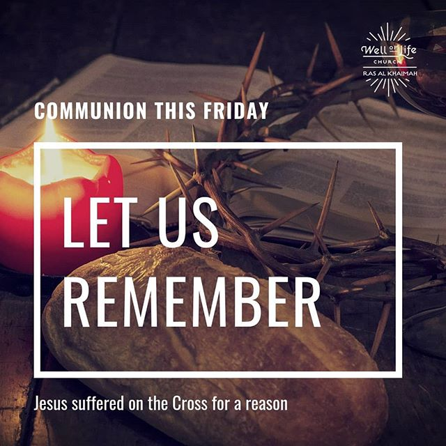 Let us remember and celebrate together as believers the gift we received through the price that Jesus paid! See you at church. #welloflifechurchrak #godisgood