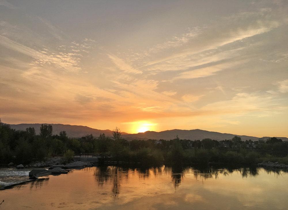 Sunrise Over the Boise River. September 11, 2018.