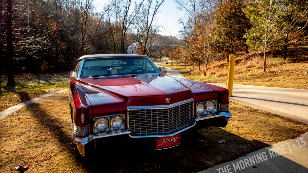 Ruby the 1970 Cadillac Convertible at Crystal Bridges Museum, Bentonville, Arkansas. 11.22.2018