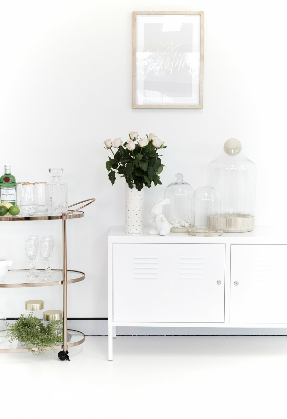 BARCART - FREEDOM ACCESSORIES -  HAMPTONS AT HOME  +  FREEDOM  CABINET - IKEA