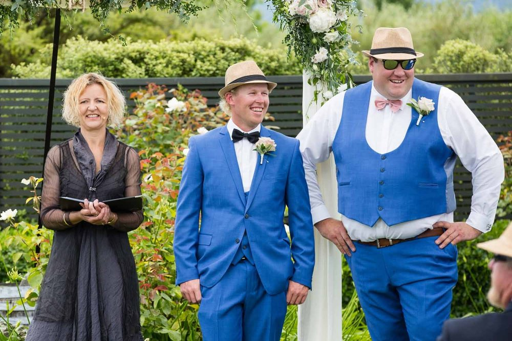On a warm and sunny afternoon Murray stood with his Groomsmen eagerly awaiting the arrival of Natasha, the love of his life.