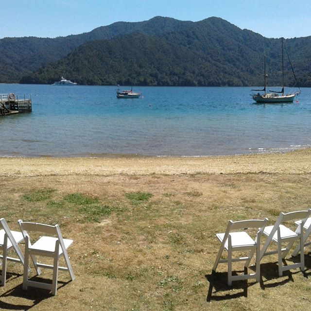 Another spectacular day in the Marlborough Sounds for a very special couple #love #happy #family #loveMarlborough #marlboroughcelebrant #marlboroughnz #wedding #hair #bride #groom #style #pretty