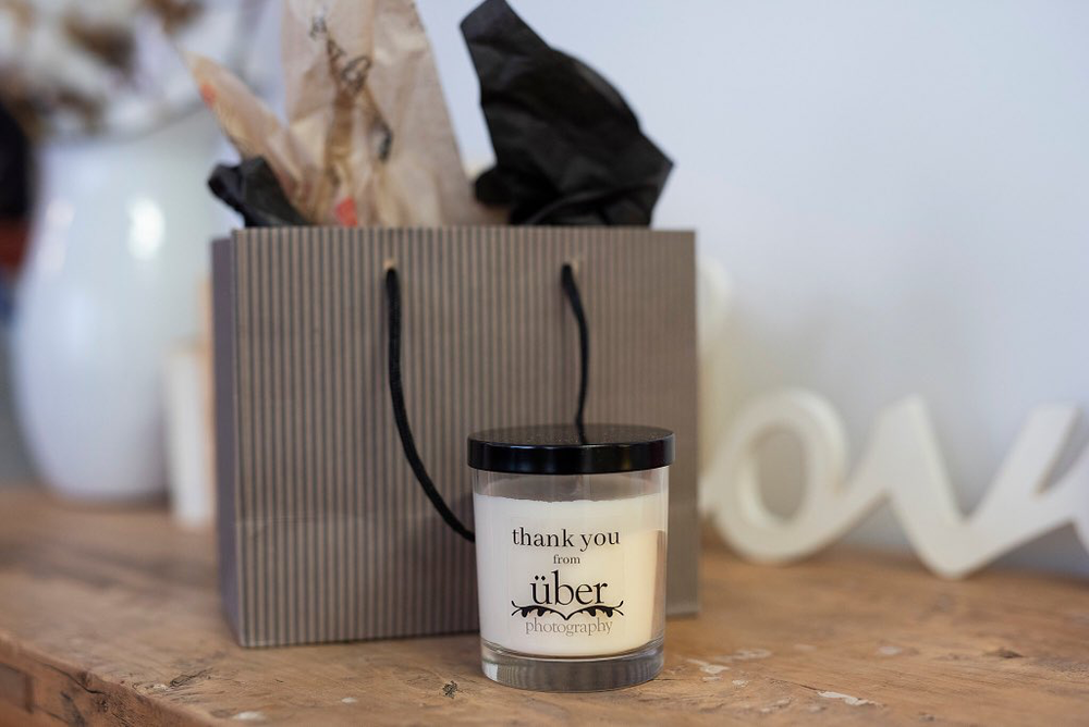 Custom Corporate Candle Order from Uber Photography