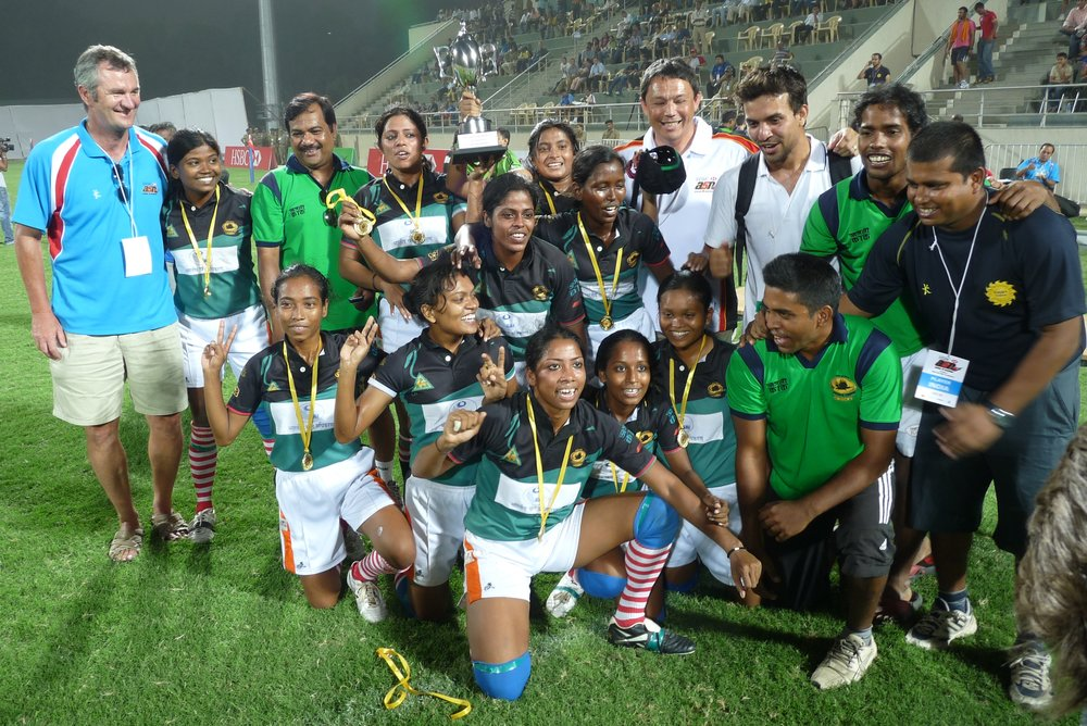 As part of the Commonwealth Games venue test event the final of the Women's 7s was played under lights at the Delhi University Stadium - won by Jungle Crows in a final versus KFANDRA Pune