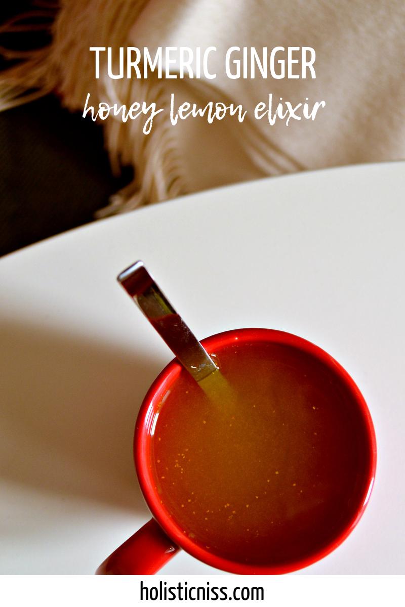 anti-inflammatory turmeric ginger honey lemon drink