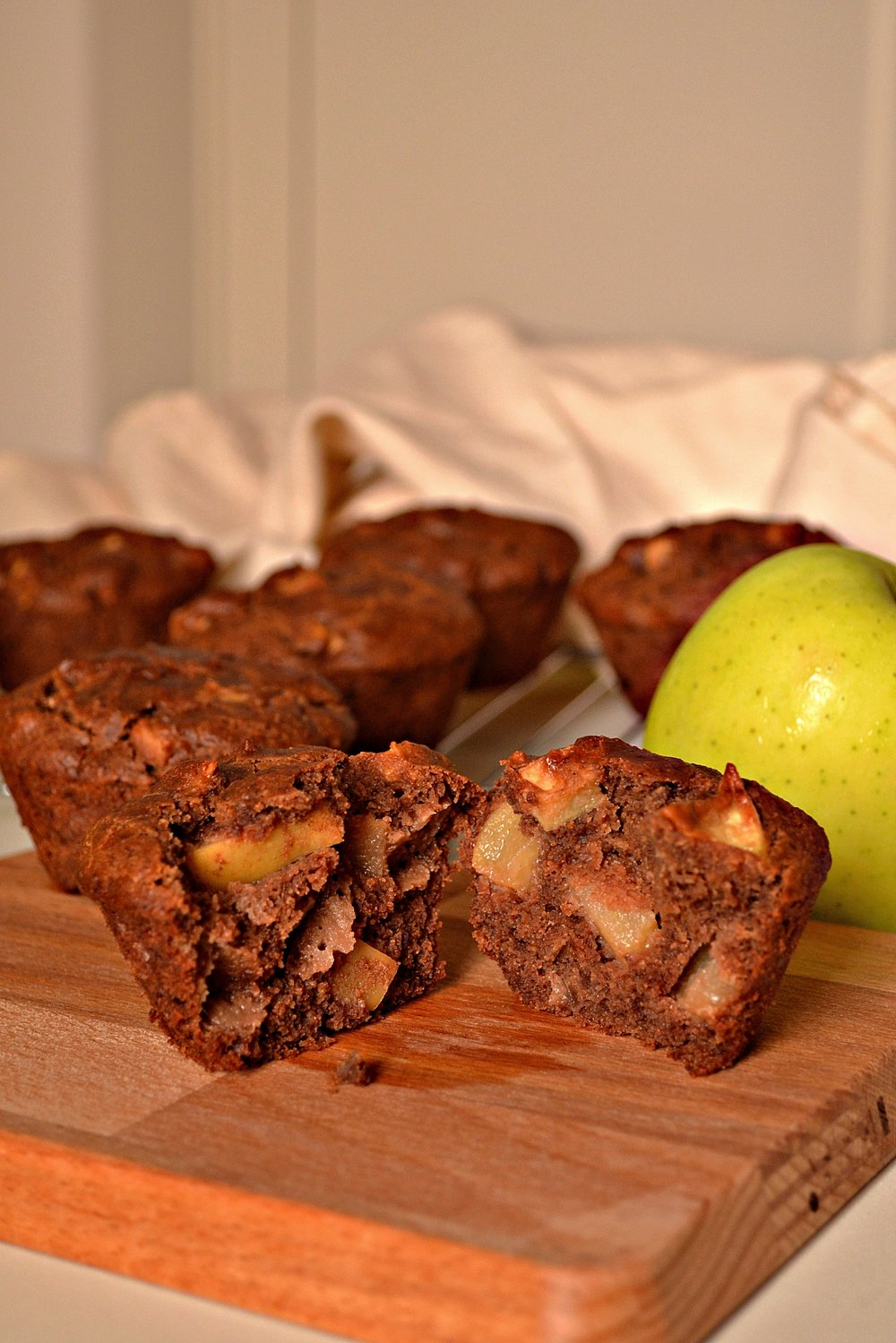 Gluten Free Vegan Apple Chestnut Flour Muffins