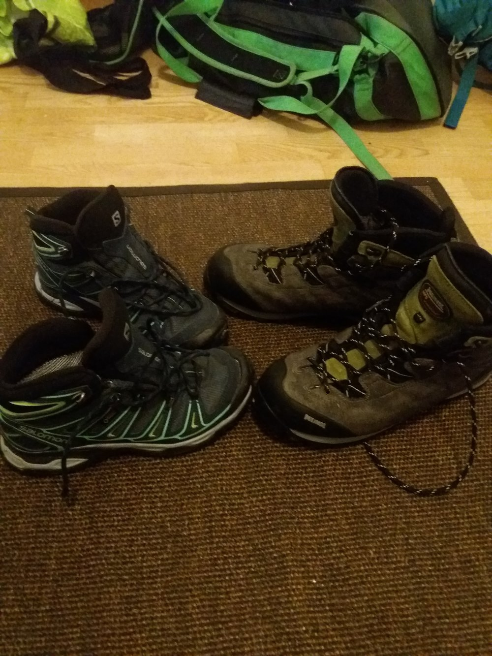 """when thinking the hike in nepal, the hiking boots are the most important thing to get. we have bought these a one year ago that we have had the time to """"run in"""" those shoes. we don't want any blisters."""
