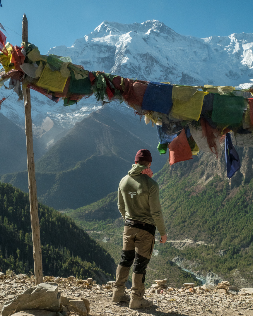 Admiring the views in Ghyaru.