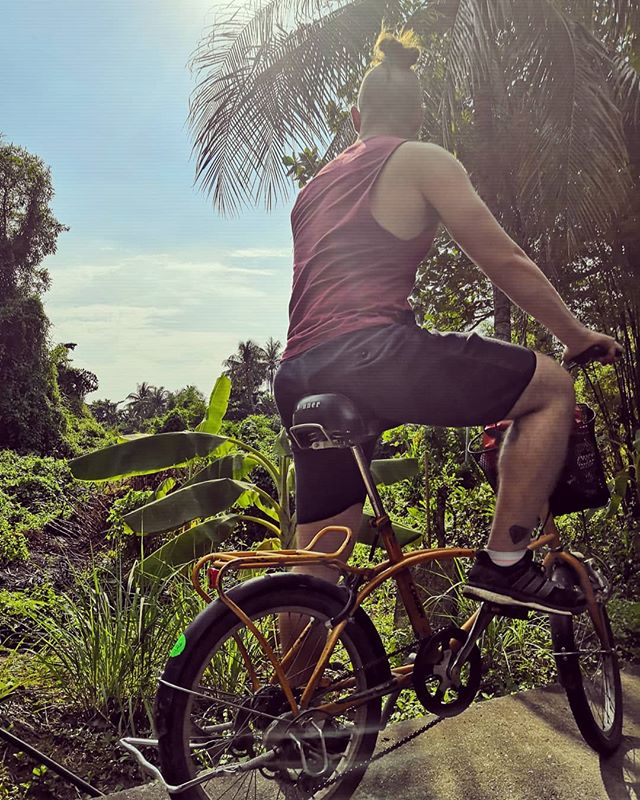 Riding to the sunset ▶️🚲 ▪️ ▪️ ▪️ #bangkrachao #bangkok #thailand #thailandtravel #travellovers #travelinspiration #travelling #travelasia #backpackasia #backpackingmadness #backpackingtrip #backpackers #jungle #welcometothejungle #biking