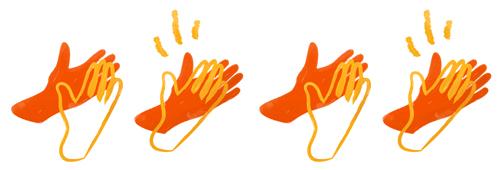 Klappende handen illustratie