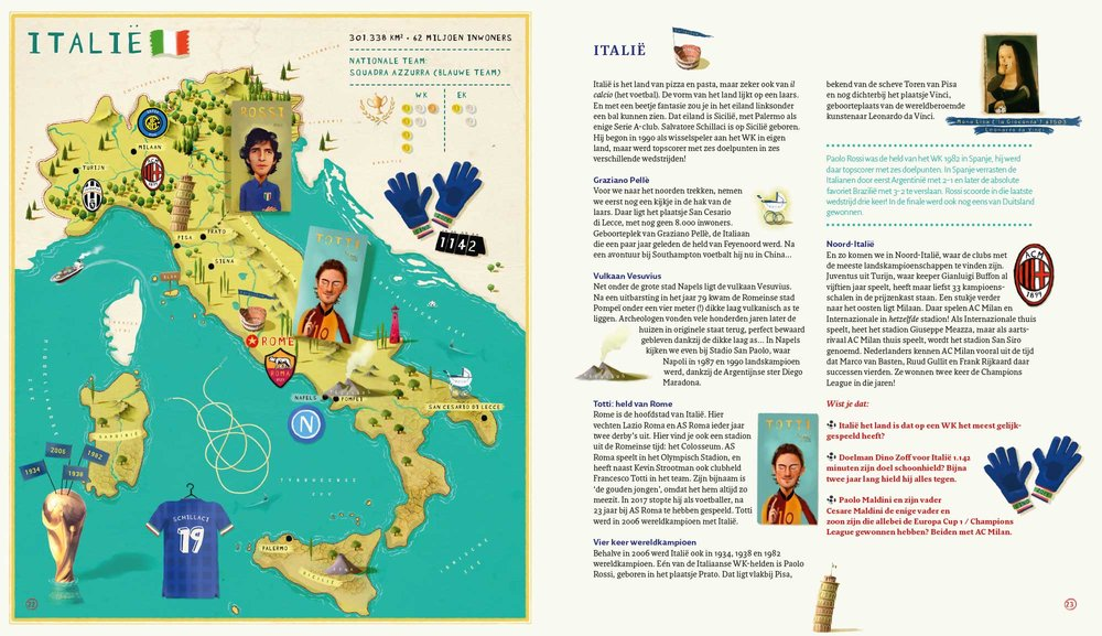 Wereld Voetbal Atlas - Italië | Gerard van Gemert &Job van Gelder ©