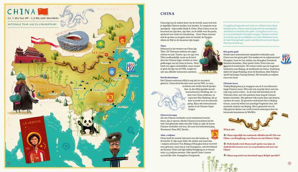 Wereld Voetbal Atlas - China |Gerard van Gemert &Job van Gelder ©