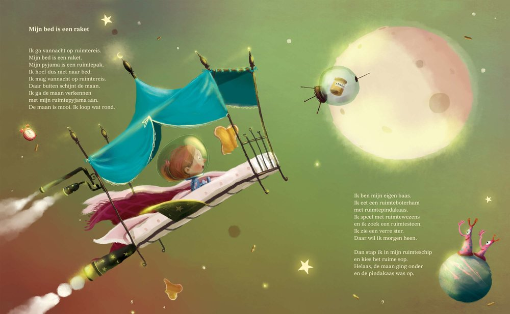 Mijn bed is een raket |Spread uit Muziek in de pannen | Bette Westera &Job van Gelder ©