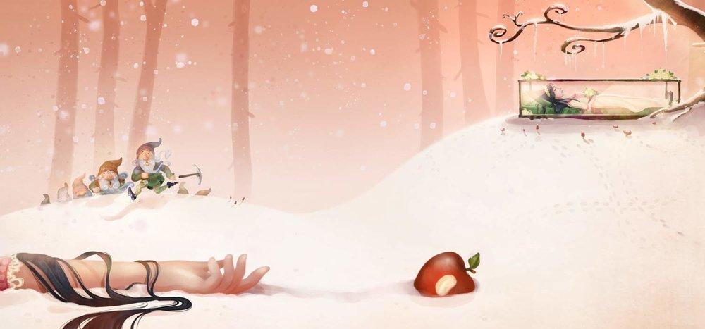 Prentenboek Efteling - Sneeuwwitje - Studio Monnikenwerk ©
