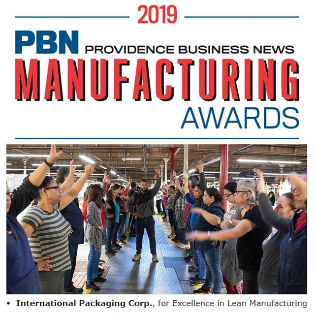 Raise your hand if your excited! Because we are! Interpak was selected as a winner of the @providencebusinessnews annual Manufacturing Awards for Excellence in Lean Manufacturing! It is an honor to be recognized for the work that we do to make our business faster, finer, and flexible for all of our customers. Check out link in bio for more info! #pbnmfg