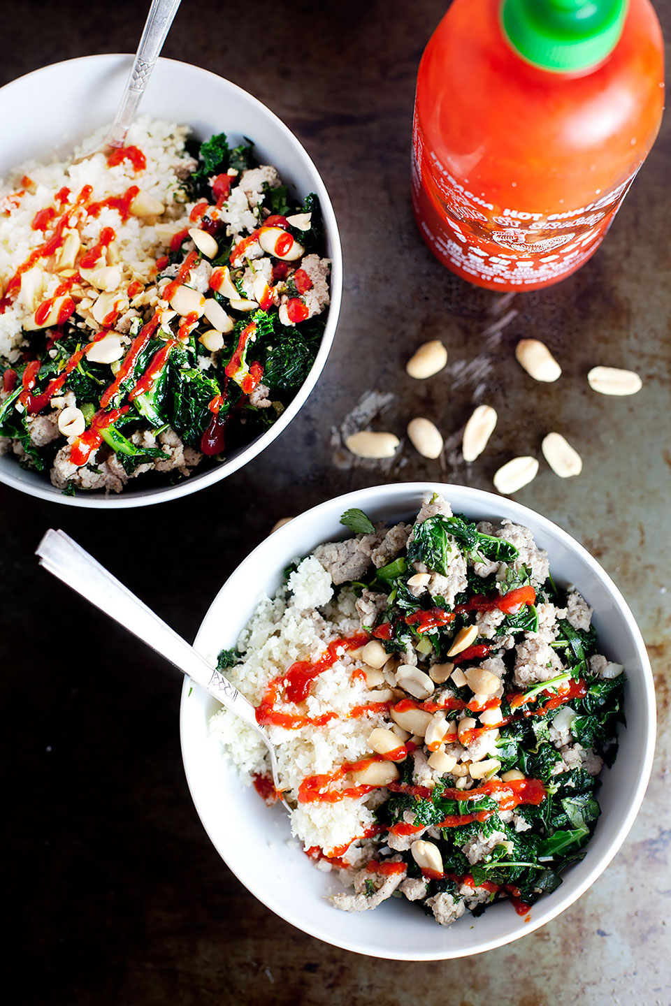 Garlic Ginger Kale Bowl | Gluten-free and paleo with a vegan option. | Loveleaf Co.
