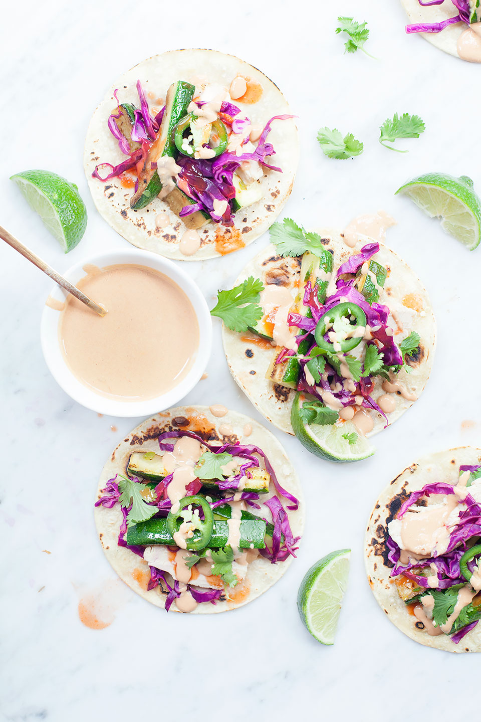 Roasted Squash Tacos with Chipotle Tahini Crema | Easy meal prep recipe that's vegan, vegetarian, and gluten-free. | Loveleaf Co.