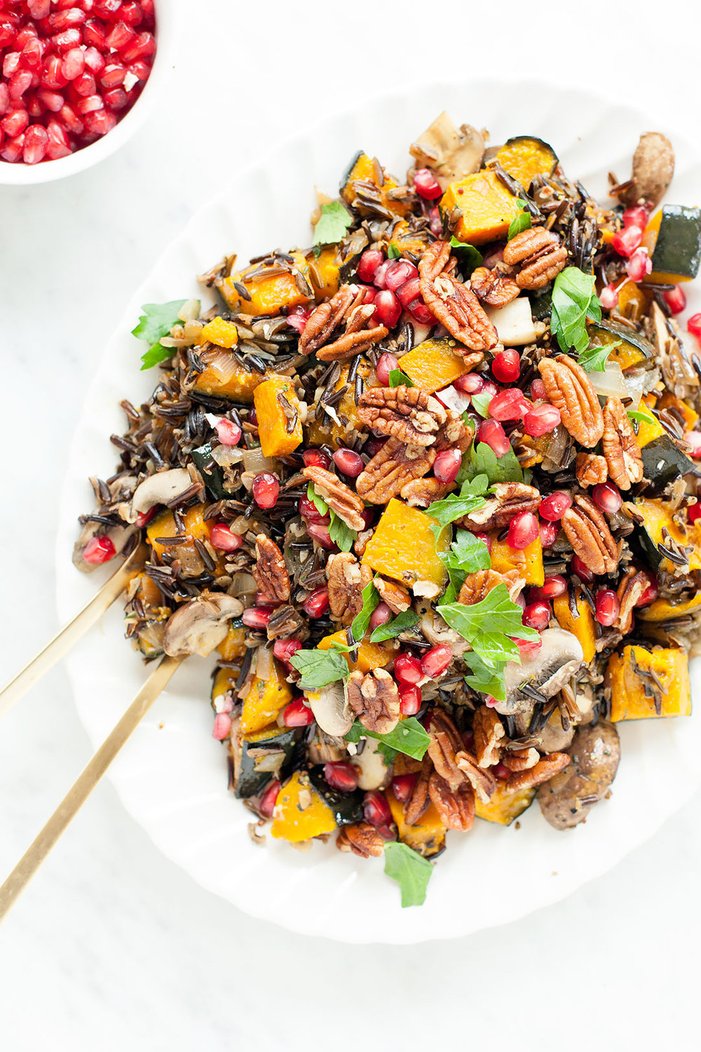 wild rice salad with kabocha squash and brown butter vinaigrette