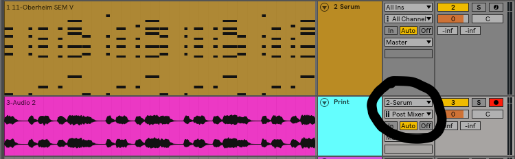 I have now printed that MIDI file into audio. Every DAW is different, but for Ableton, all you need to do is create an audio track and route it to the instrument track with the MIDI and VST. Arm the audio track, hit record and voila! Your midi is now audio