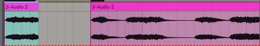 because we bounced this progression into audio we can just chop off that chunk and keep it moving as opposed to messing with ADSR paramters.