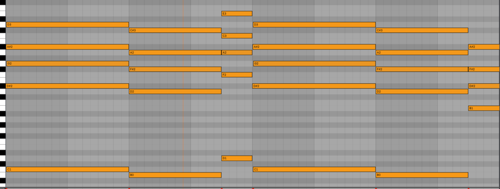 This is the chord structure both before and after the B section.