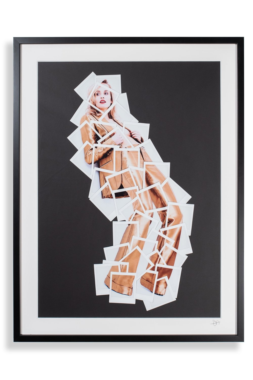 GIRL IN GOLD, FUJIFILM DECONSTRUCTIVE COLLAGE, 60X80 CM, 2018