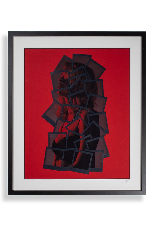 RED SHADOW, FUJIFILM DECONSTRUCTIVE COLLAGE, 50X60 CM, 2018