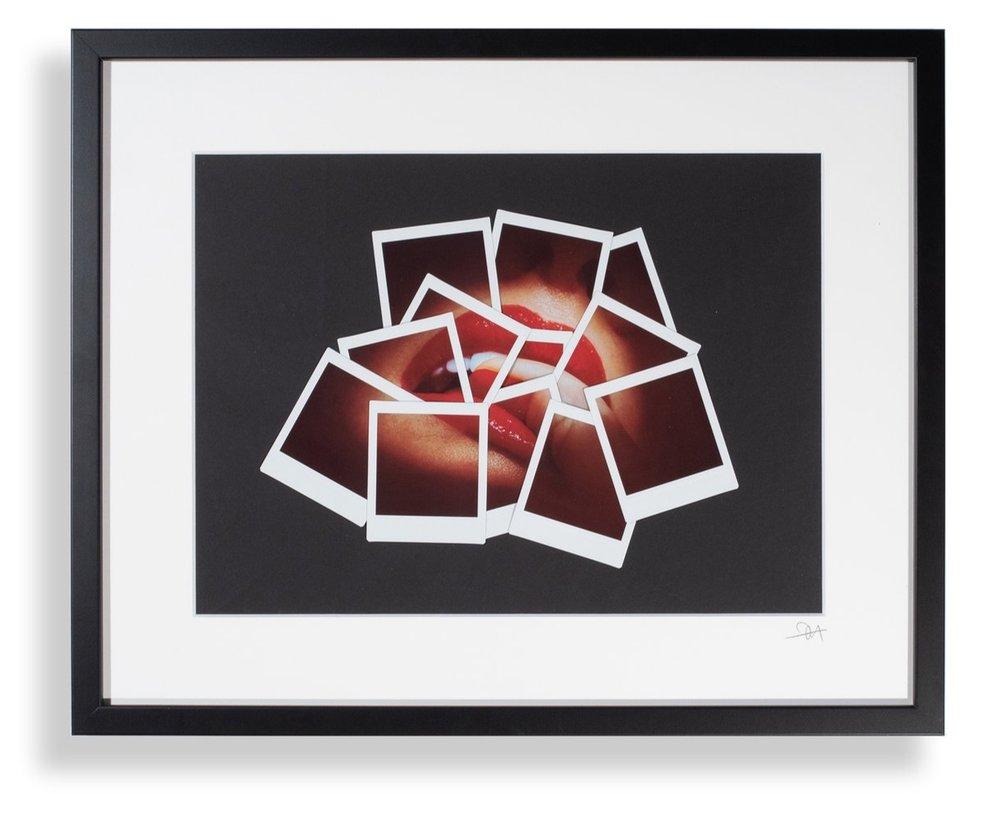 RED LIPS, FUJIFILM DECONSTRUCTIVE COLLAGE, 40X50 CM, 2018