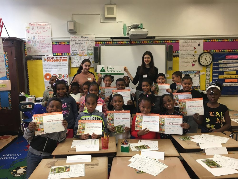 Teaching business for Junior Achievement
