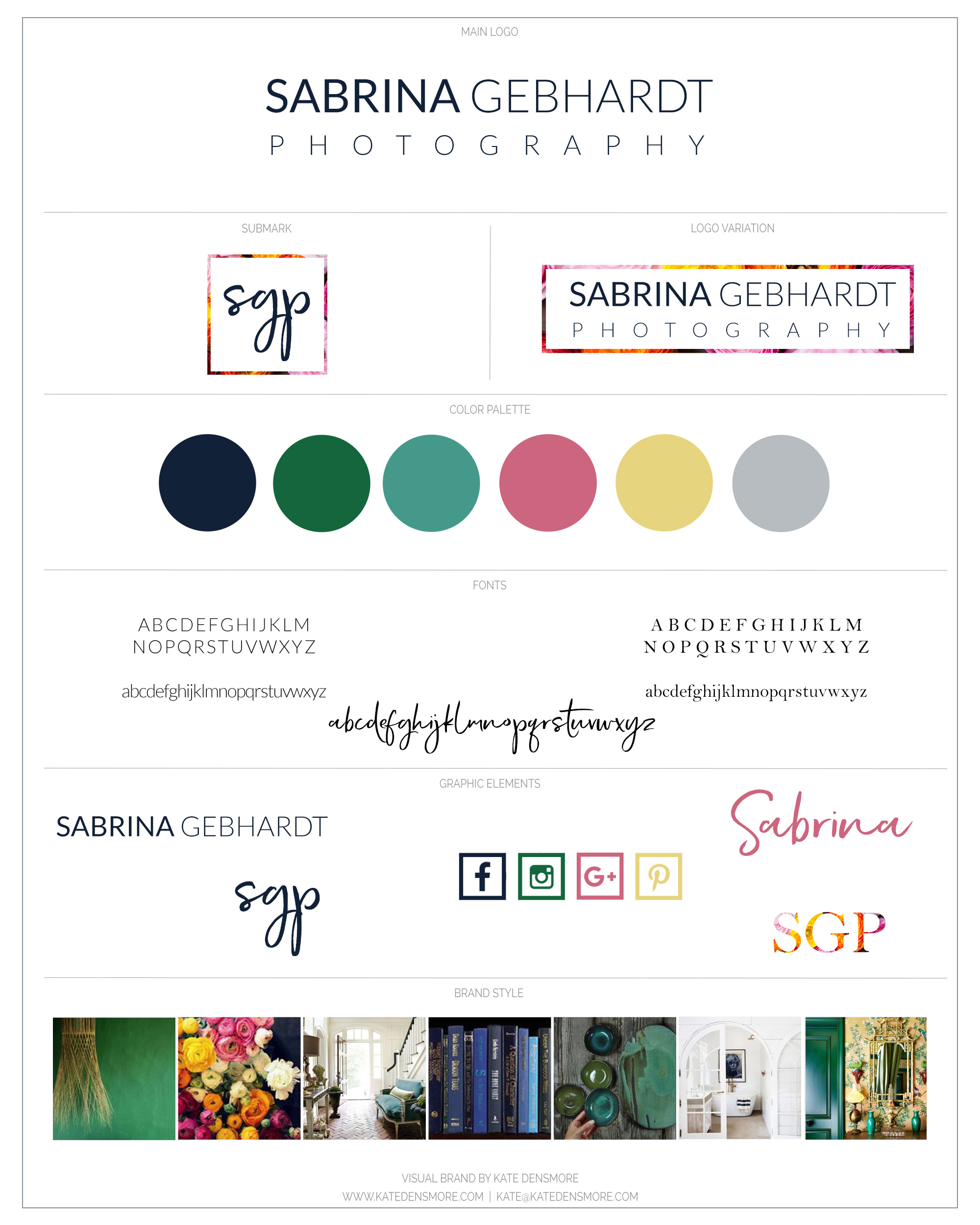 branding board for a bold, authentic, fun photographer