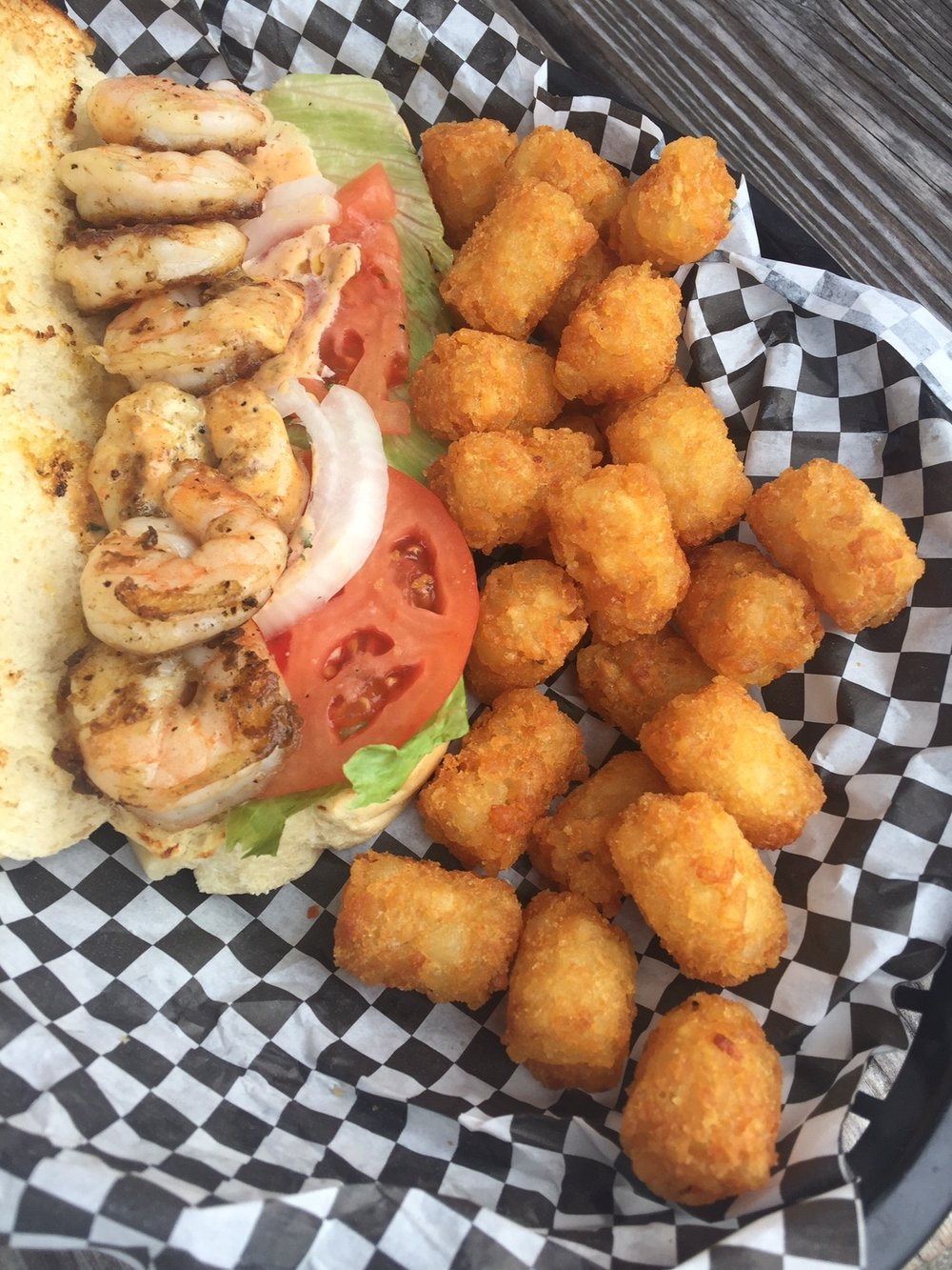 Grilled Shrimp Po Boy