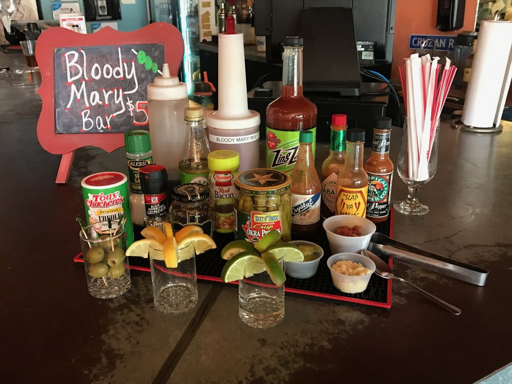Bloody Mary Bar every Sat/Sun until 4pm