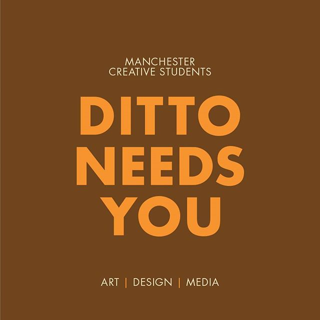 Anyone studying at @mcrschart get in touch! Contact us through direct messenger or dittomag@gmail.com for your chance to showcase your work! Be that projects, sketchbooks or exhibitions! Also, if you've got an event you've organised coming up, be sure to send over the details so we can promote it!