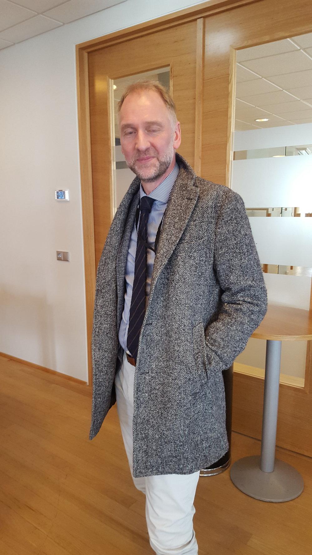 Einar Birkir Einarsson sérfræðingur hjá Fjármálaráðuneytinu hélt tölu um upplýsingamál ríkisins í dag.