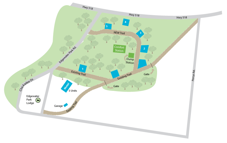 Map of campsite area