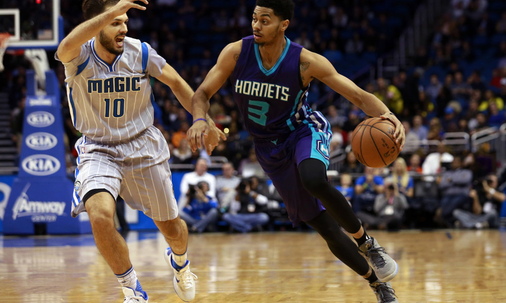 Jeremy Lamb is in a prime spot tonight with injuries to Dwayne Bacon and Nicolas Batum. Photo Taken from USA Today.