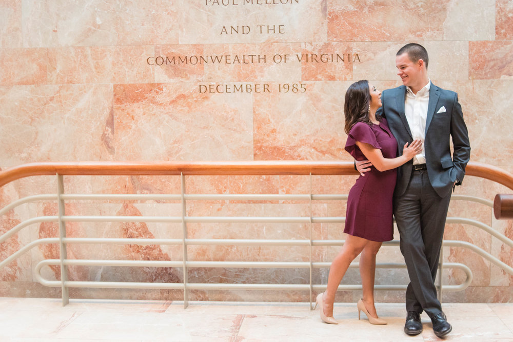 Engagement Photos at VMFA | Richmond VA Wedding Photographer - MJ Mendoza